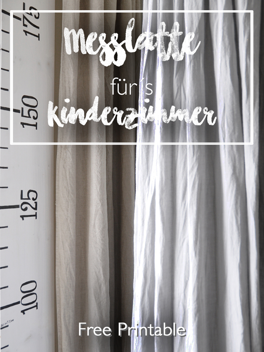 Wachstumslineal Messlatte Vorhang Leinen Betthimmel height chart EBook - DIY Messlatte für Kinder