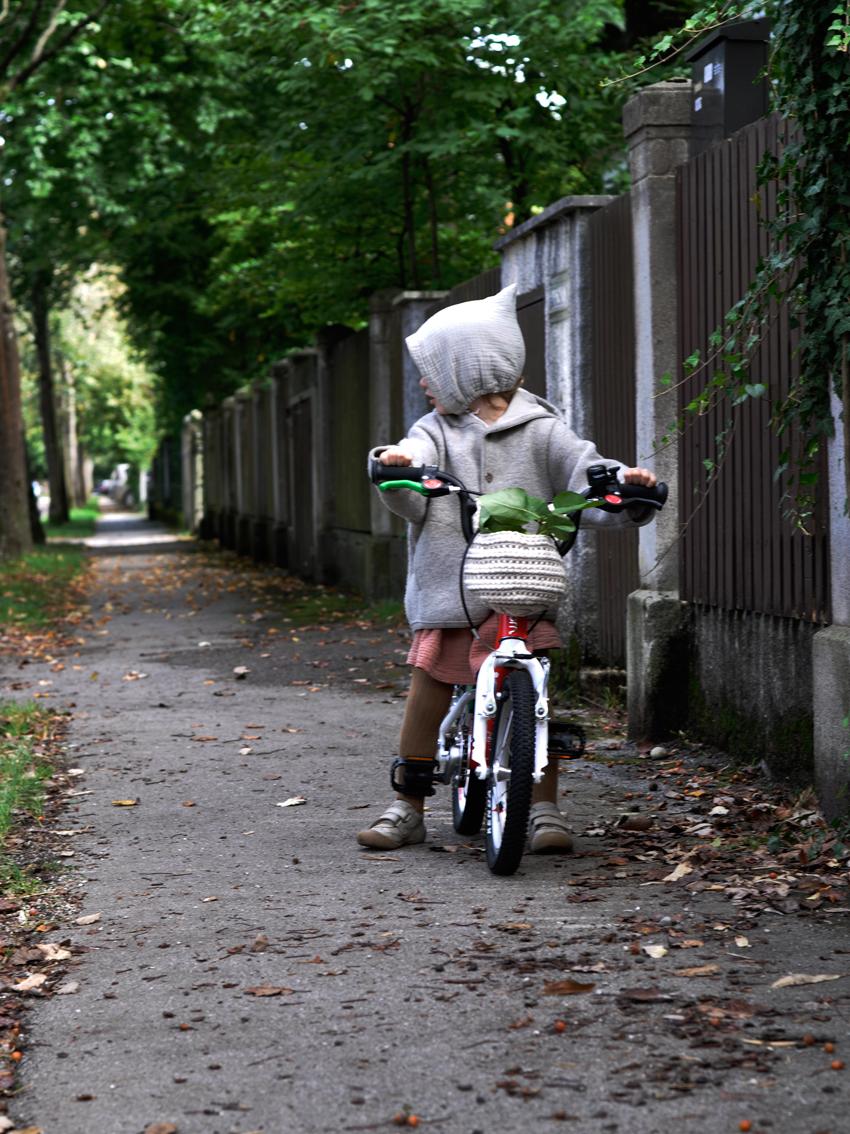 woom Kinderfahrrad Fahrrad fahren lernen - DIY Fahrradkorb für Kinder