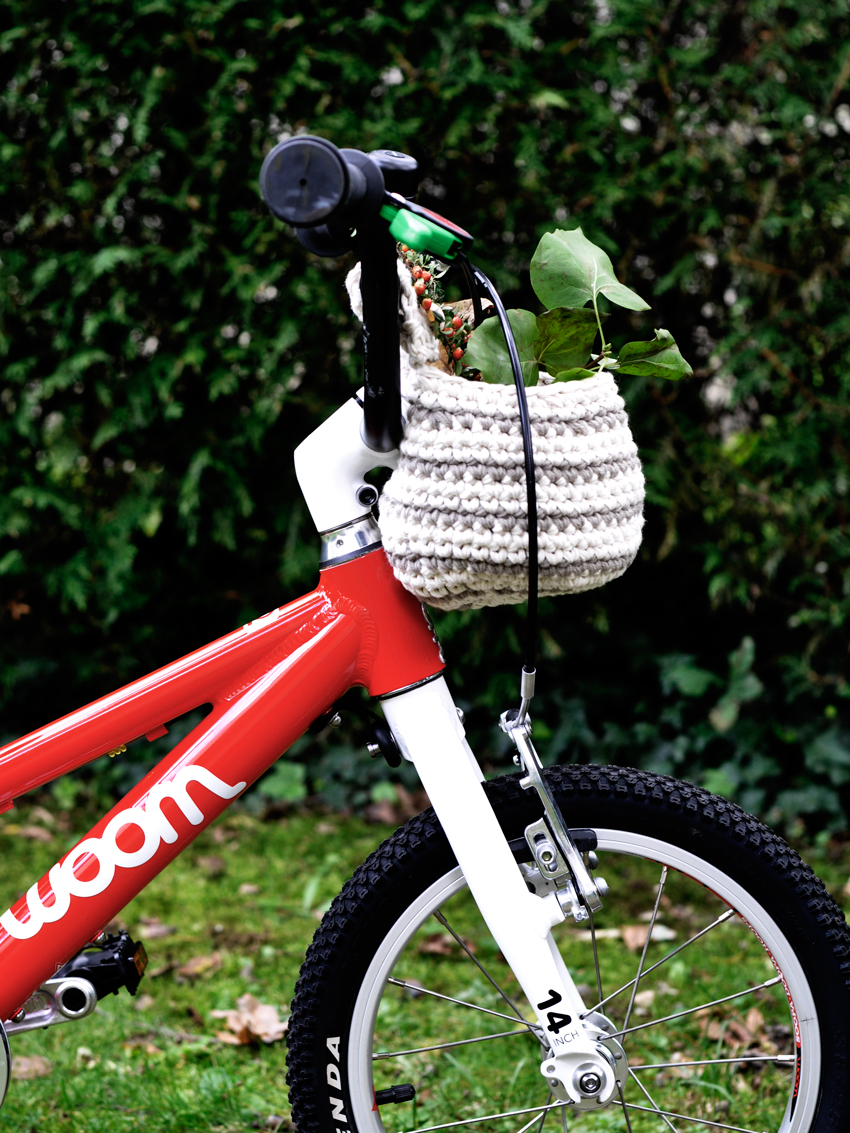 woom Kinderfahrrad Fahrradkorb DIY crochet haekeln - DIY Fahrradkorb für Kinder