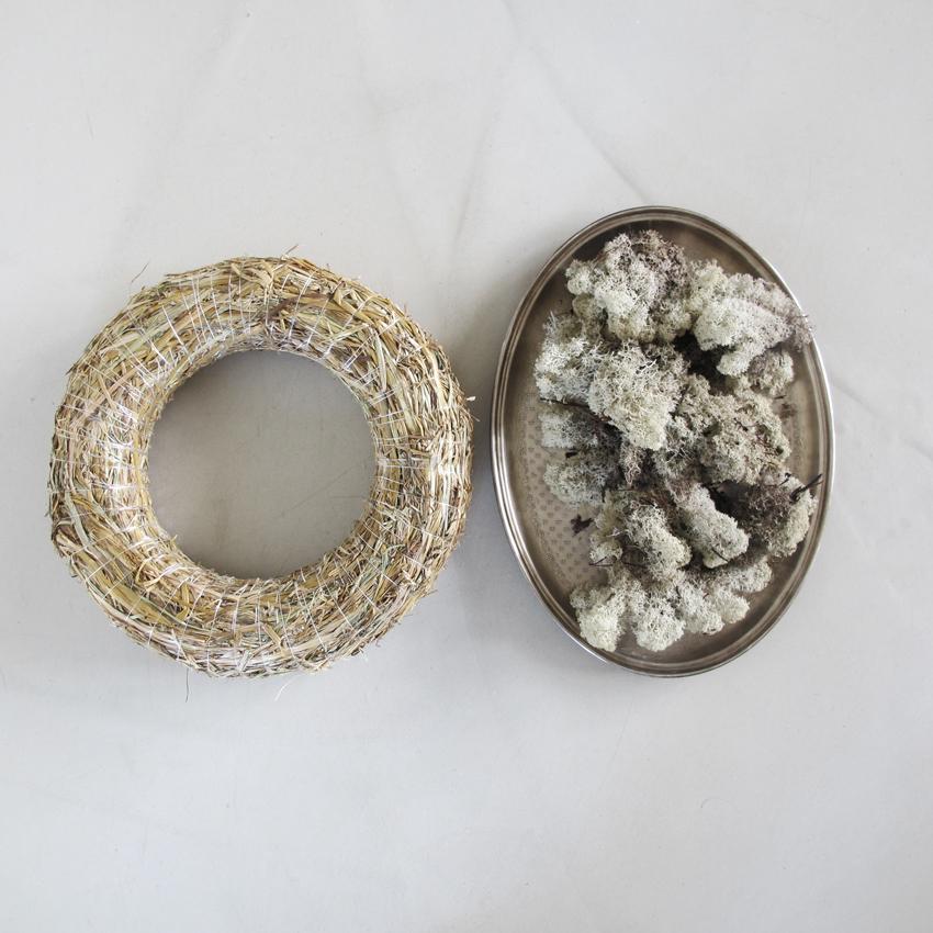 Mooskranz binden Zubehoer - Ein Kranz aus Moos für die Ewigkeit | ganz ohne Draht