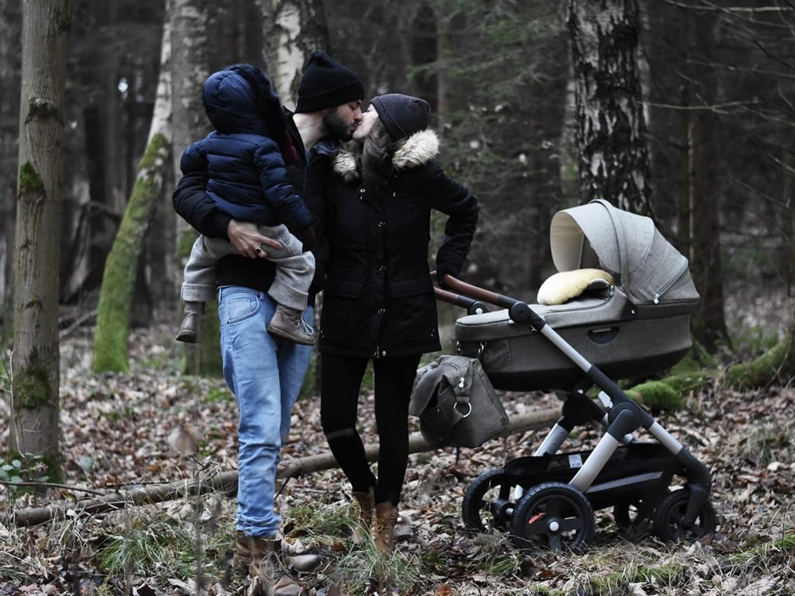 Stokke Trailz nordic green Babyschale Familie - Was der Trailz Nordic Green von Stokke mit meinem Hochzeitskleid zu tun hat