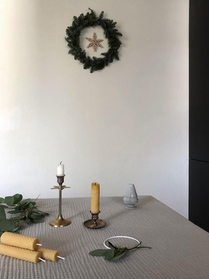 Diy Holzperlen Stern Tischdekoration Kerzenstaender Bienenwachskerzen - Wunderschöne Perlen Sterne