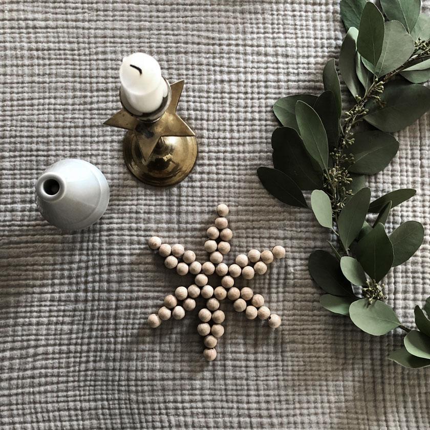 Diy Holzperlen Stern Tischdekoration Kerzenstaender Eukalypthuskranz - Wunderschöne Perlen Sterne