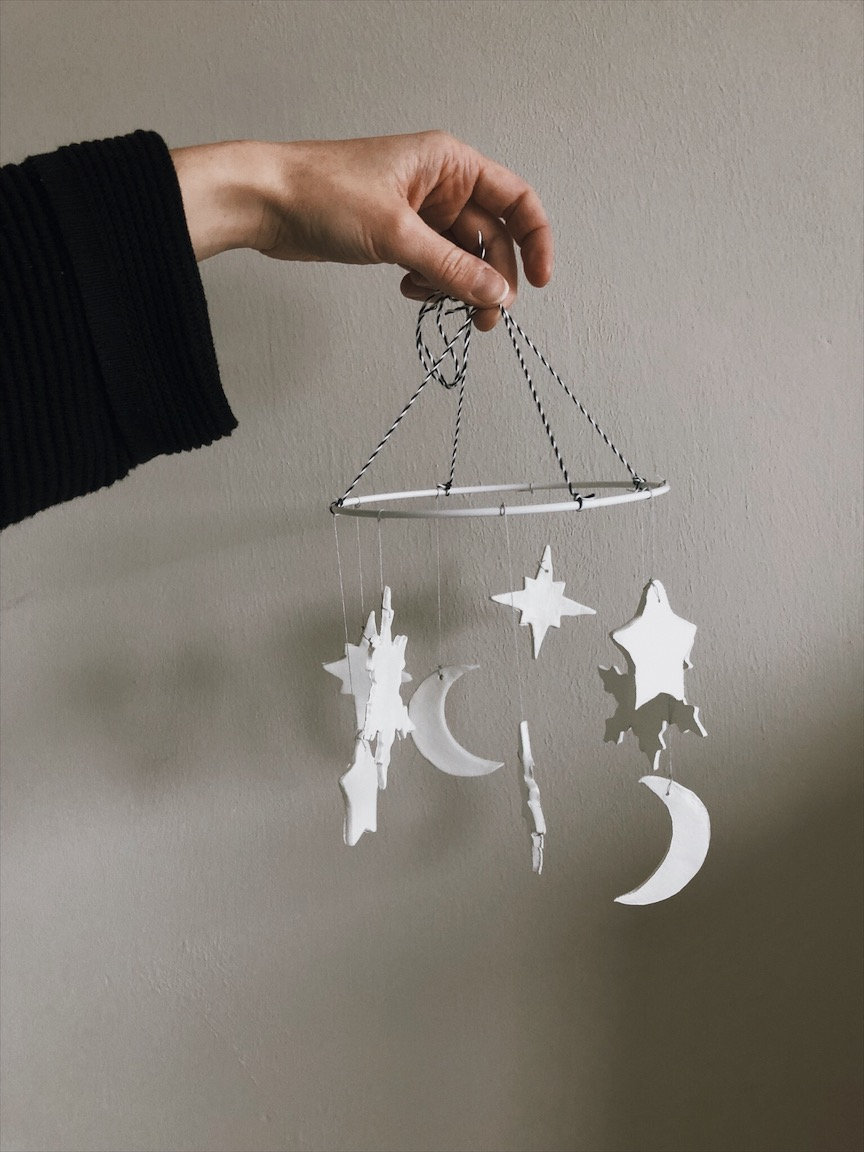 Mobile Stern Mond Hand - Unser Sternenhimmel Mobile