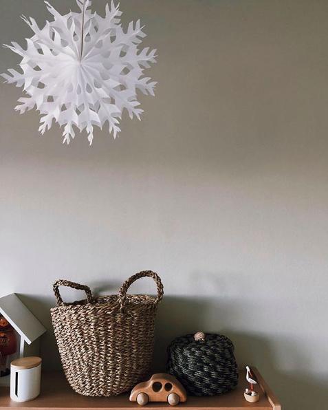 Weihnachtsdeko Kinderzimmer Schneeflocke Weihnachtsstern - Geschwisterzimmer | wenn das Baby mit dem Kleinkind