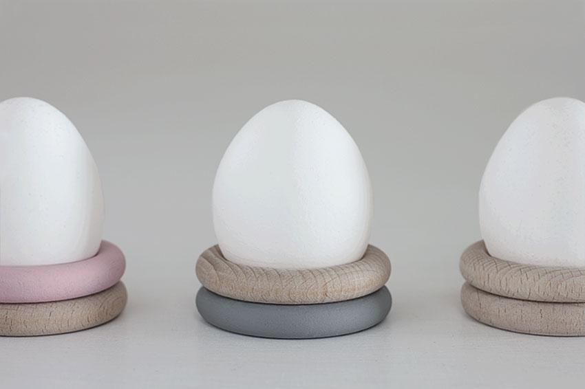 Eierbecher Holzringe pastell Ostern nah - Einfach & simpel | Diy Impressionen für den perfekten Ostertisch