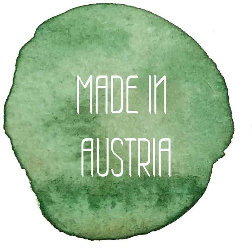 Made in Austria Logo - Blumenpresse Natur