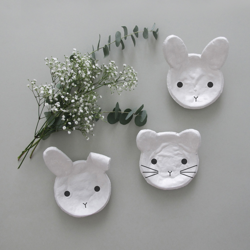 Modelliermasse Salzteig Schale Kind Hase Katze - Einfach & simpel | Diy Impressionen für den perfekten Ostertisch