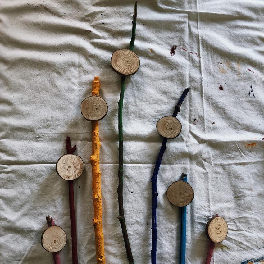 Pflanzenschilder basteln upcycling natur Holz - DIY | upcycling Pflanzenschilder aus Stöcken und Holz