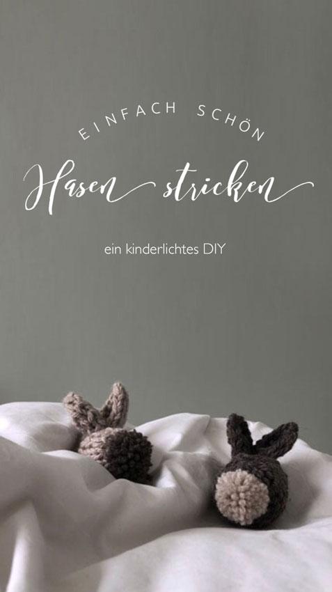 Osterhase Hase gestrickt waldorf einfach Kuscheltier Anleitung - DIY | gestrickter Osterhase | simpel einfach schön
