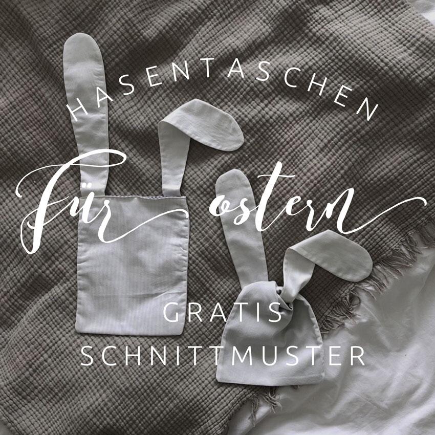Osterhase Tasche Osternest Hasentasche Hasenbeutel Brotzeitsack. pinterest - DIY | nachhaltige Hasentäschchen für das Osternest