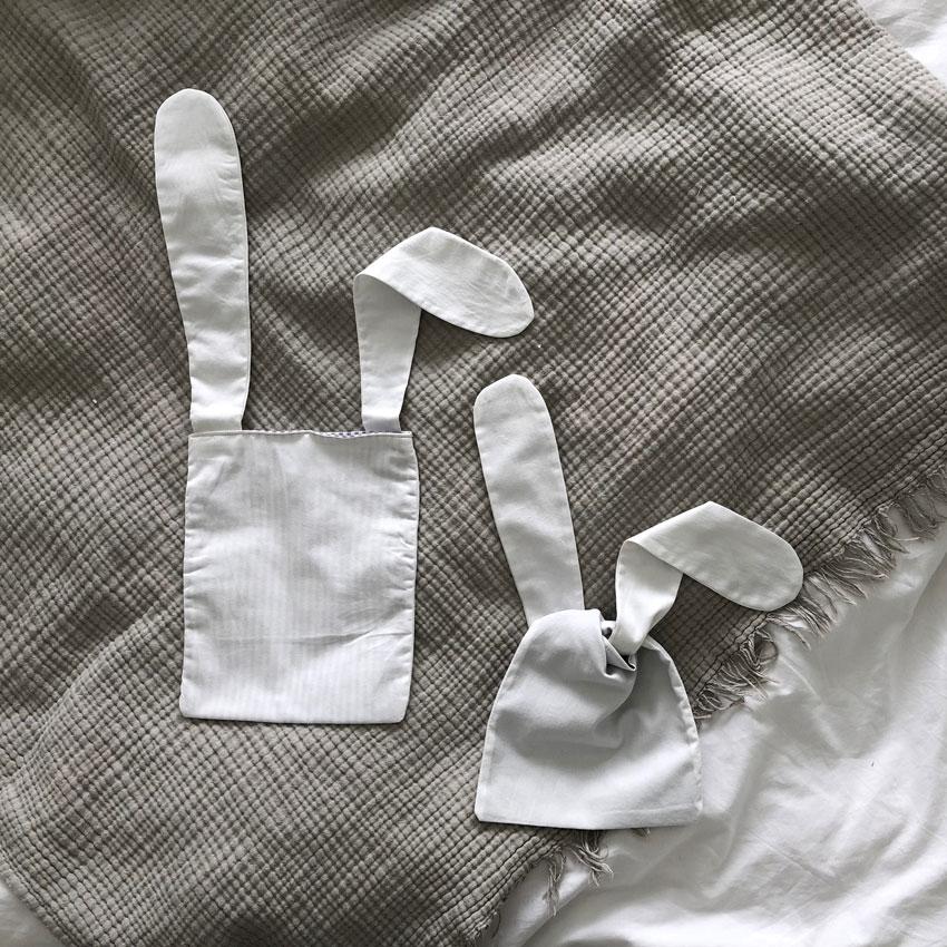 Osterhase Tasche Osternest Hasentasche Hasenbeutel Brotzeitsack - DIY | nachhaltige Hasentäschchen für das Osternest