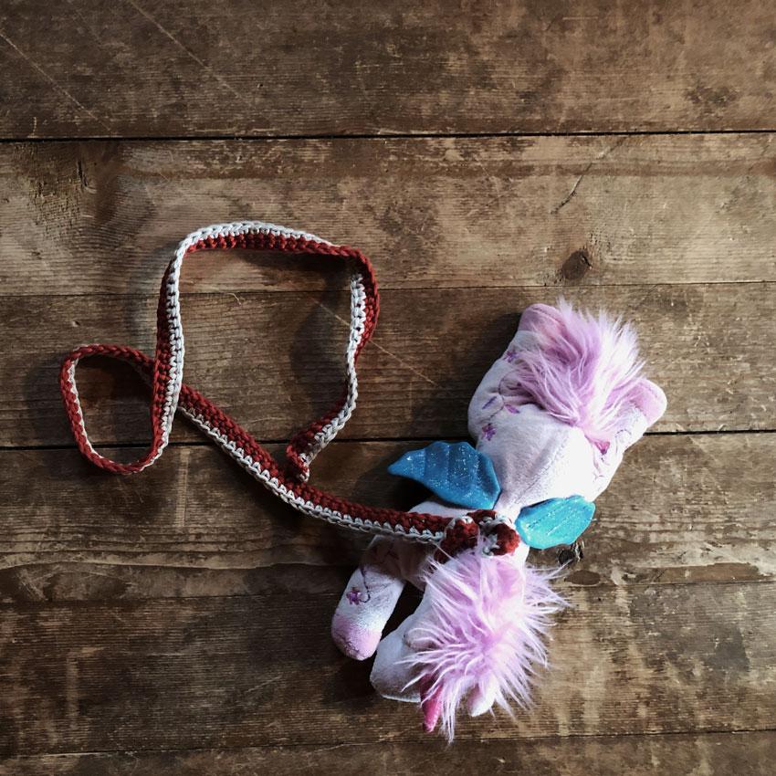 Schneckenband Leine Einhorn Kuscheltier - Schneckenbänder nach Waldorf