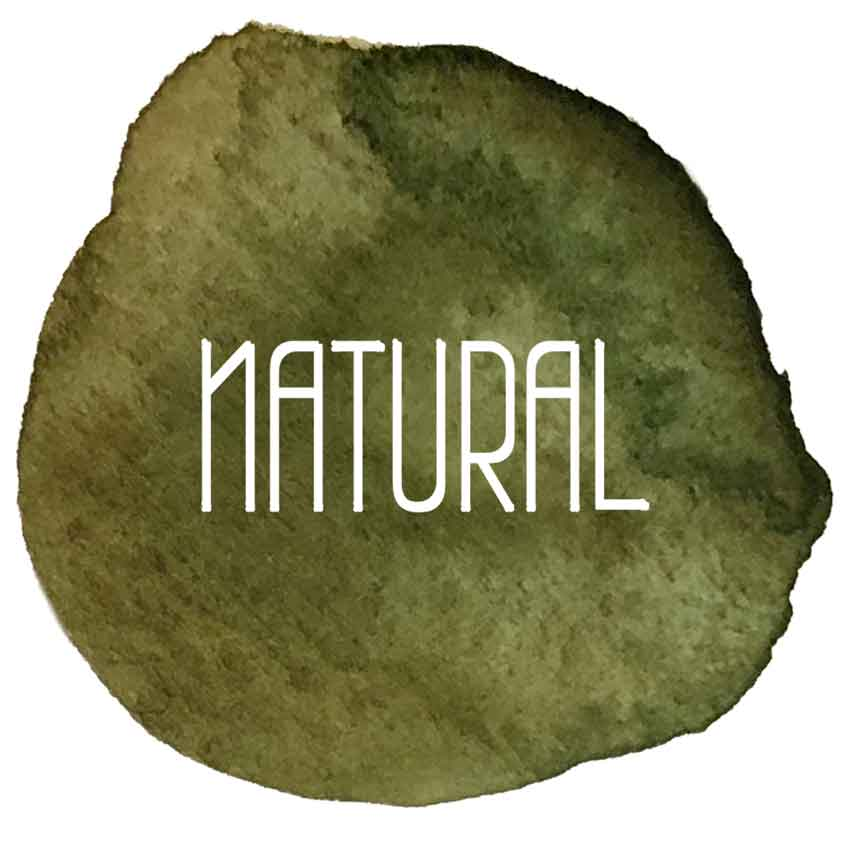 Natural Logo - Strickgabel mit Wolle