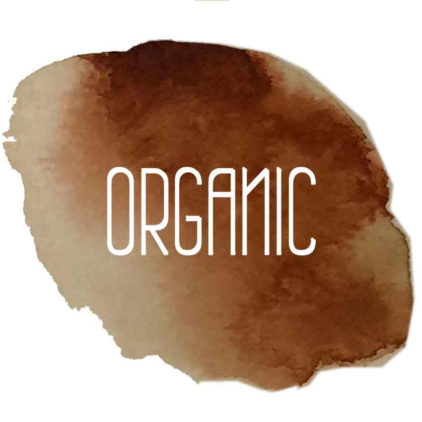 Organic Logo - Filzschnüre dünn