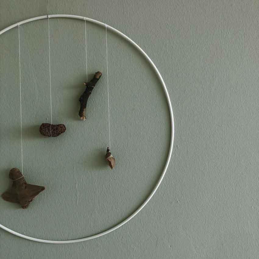 Wanddeko Natur Ring Drahtring Design Schwemmholz - Wanddekoration aus Natur