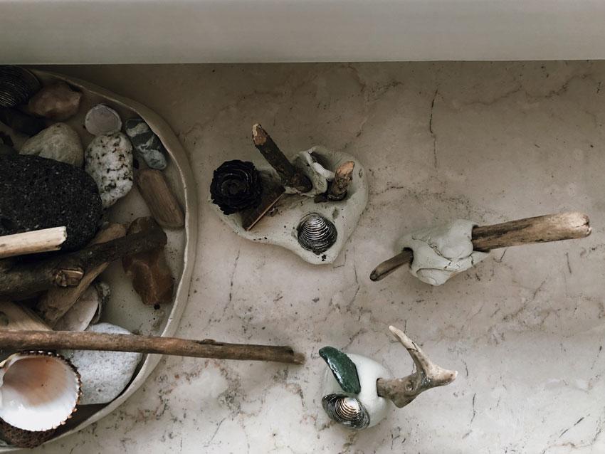 frei Kunst Skulptur Material Natur Modelliermasse Ton toepfern - Entspannt basteln mit Kindern - 4 simple Tricks