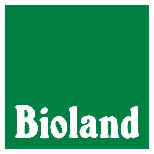 Bioland Logo - Strickgabel mit Wolle