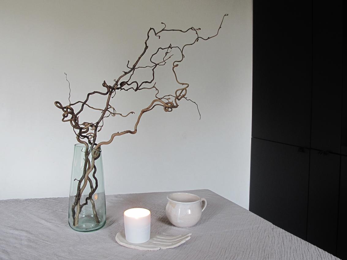 Küchentisch Esstisch Schale Kerze Kaffee - achtsam im Advent | Die schönsten Geschenke aus Modelliermasse
