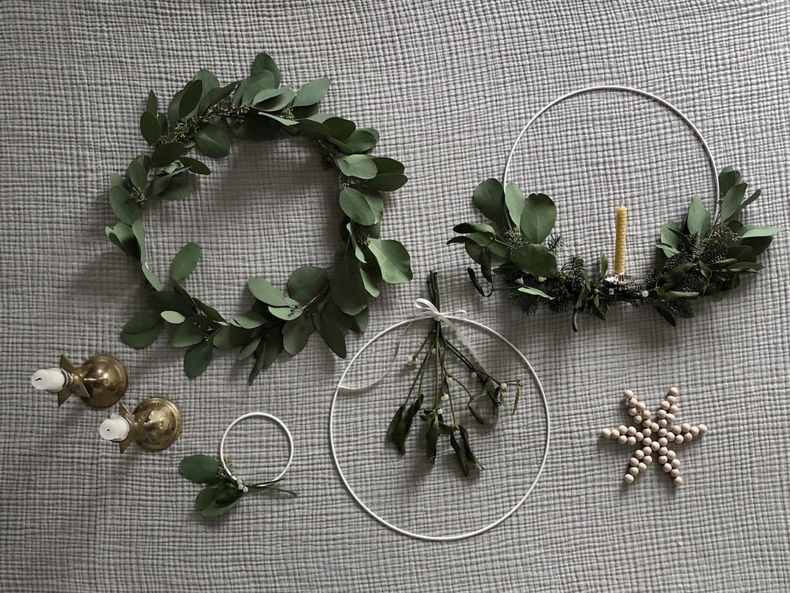 Weihnachtskraenze zart Drahtring Variation 4 - Zarte, feine Weihnachtskränze