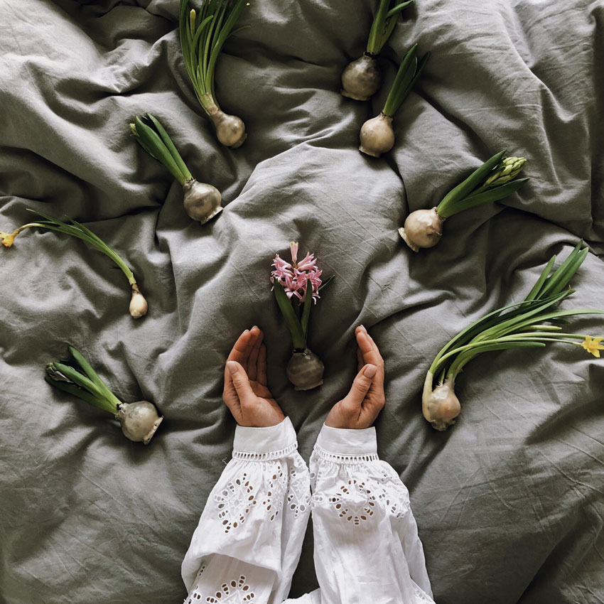 Bett Hyazinthen Bluse Spitze Blueten - DIY | Kerzen aus Eierschalen für einen wundervollen Start in den Frühling