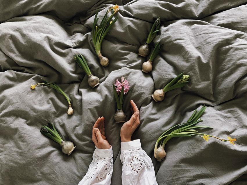 Hyazinthen Blumen Knolle Wachs Hand - DIY | Hyazinthen in Bienenwachs - das schönste Upcycling im Frühling