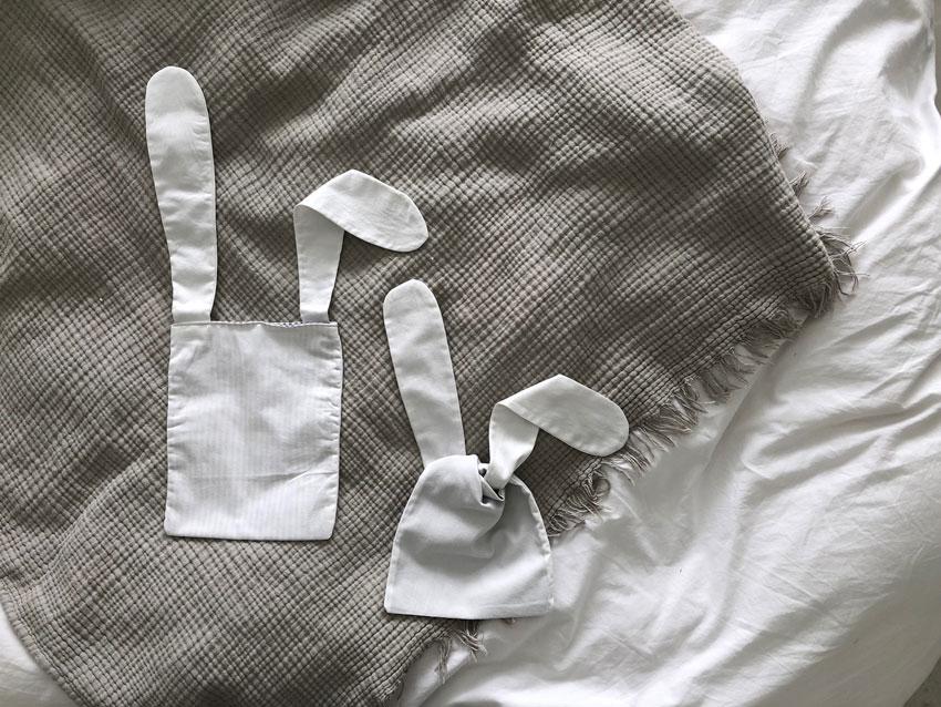Osterhase Tasche Osternest Hasentasche Hasenbeutel Brotzeitsack Titel - DIY | nachhaltige Hasentäschchen für das Osternest