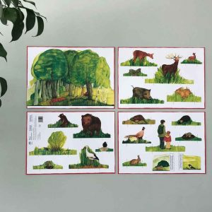 Kraul Ausschneideboegen Wald Produkt 4 Blatt rmd 300x300 - Ausschneidebögen | europäische Tiere