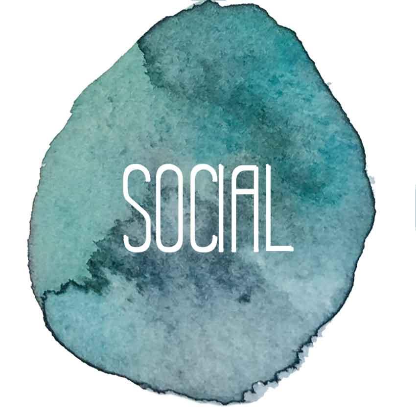 Social Logo - Kaleidoskop | Bausatz | 6 Stk.