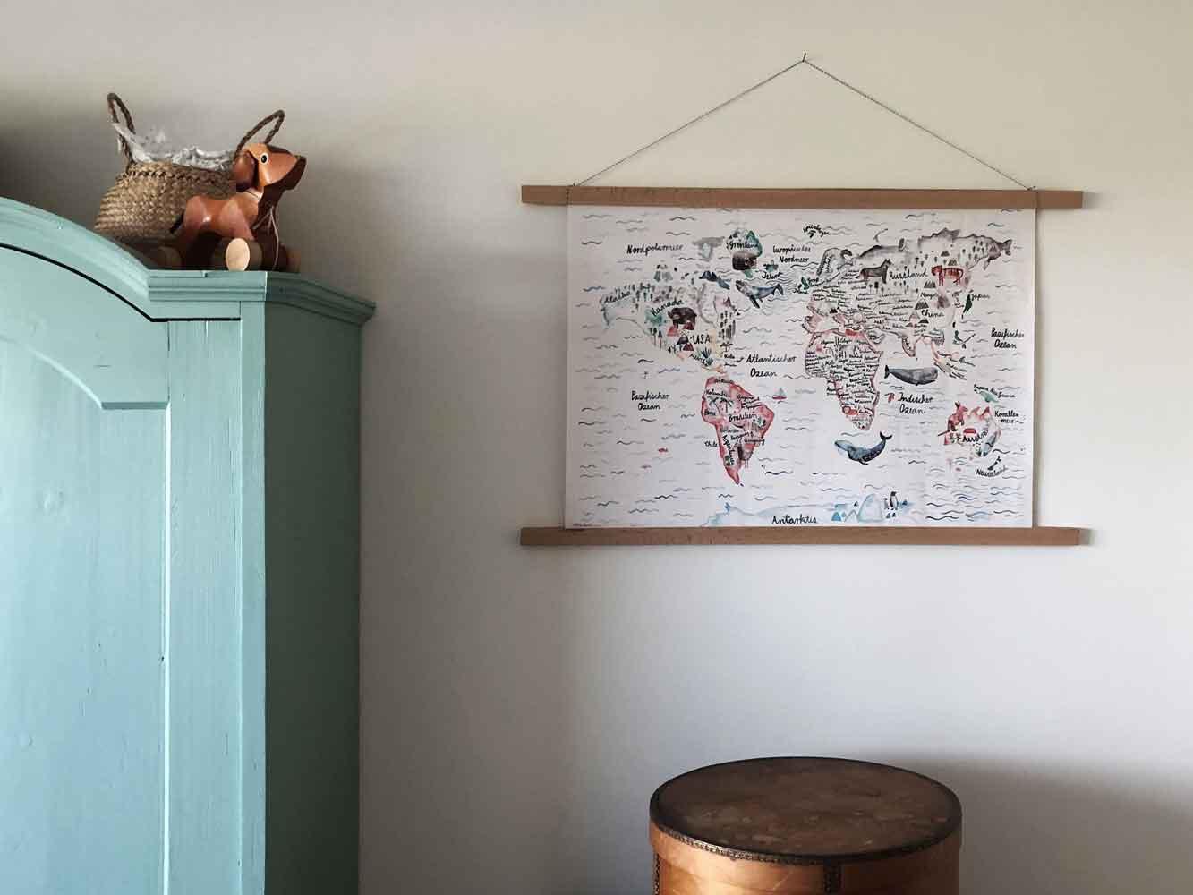 DIY Bilderrahmen Holz einfach Holzleiste Poster Kinderzimmer Bauernschrank - DIY | Bilderrahmen in unter 2 Minuten einfach selber machen