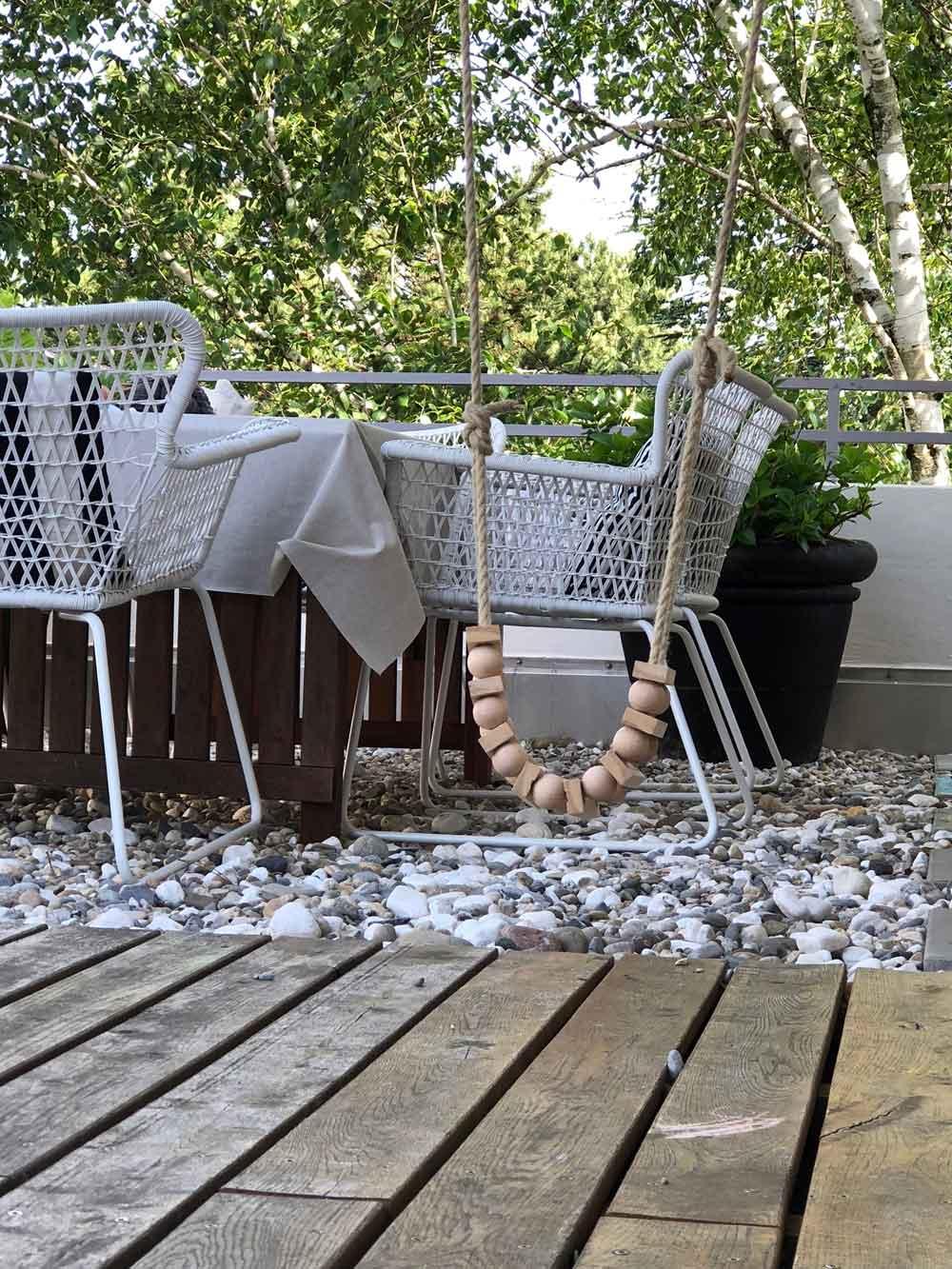 Diy Schaukel Holz Zubehoer Holzkugel draußen - DIY | Schaukel aus Holzkugeln