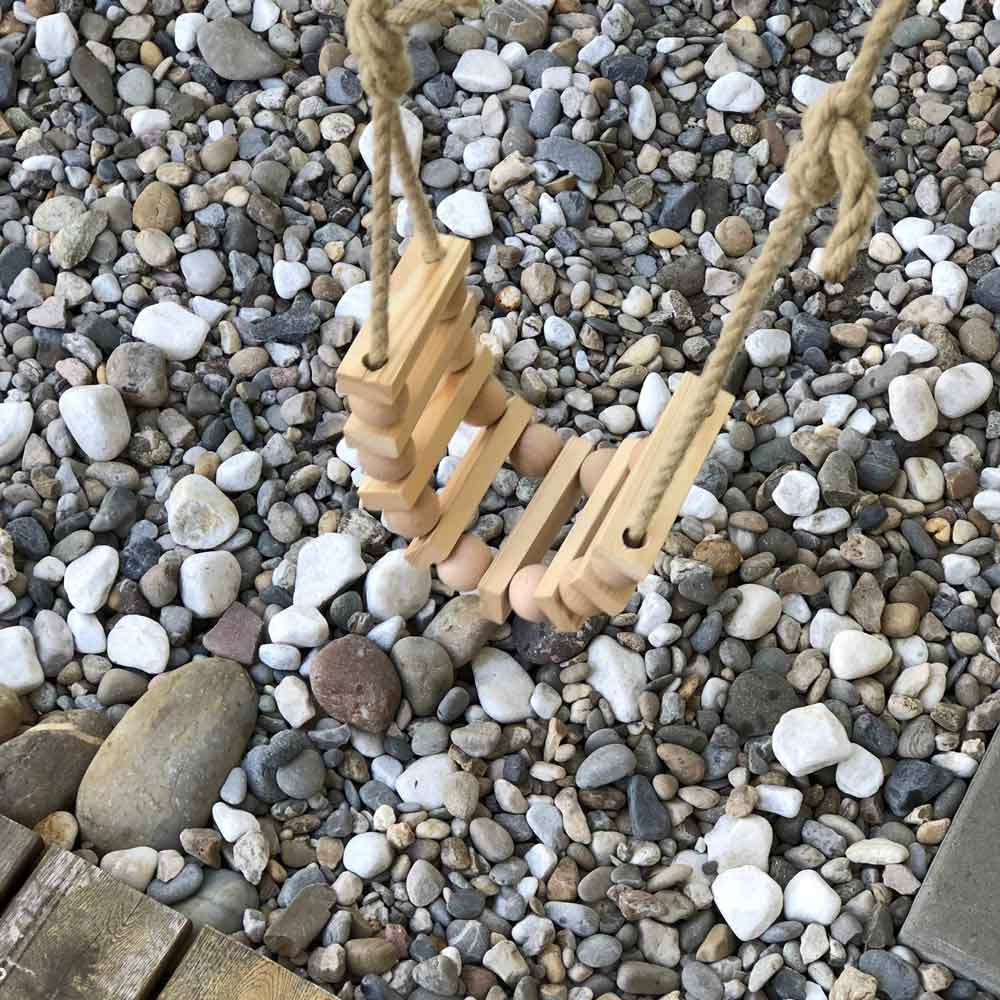 Diy Schaukel Holz Zubehoer Holzkugel draußen Detail - DIY | Schaukel aus Holzkugeln