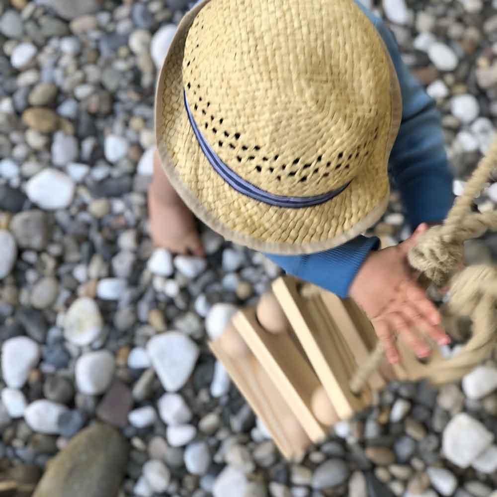 Diy Schaukel Holz Zubehoer Holzkugel draußen Kinderschaukel - DIY | Schaukel aus Holzkugeln
