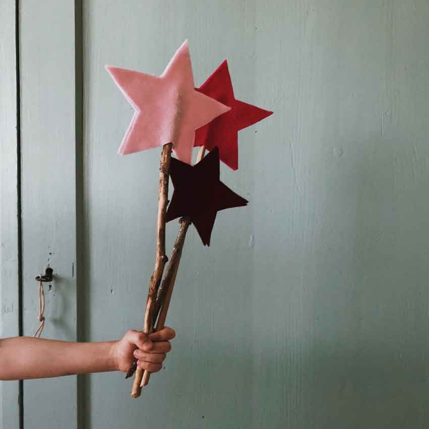 Zauberstab Filz Stern Feenstab - 14 nachhaltige DIY-Kostüme ohne Plastik