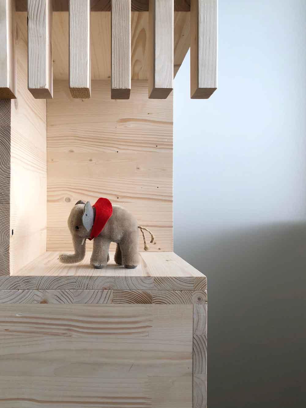 Detail Steiff Elefant retro Stockbett Kindermoebel Holz - DIY | ein Stockbett aus Holz einfach selber machen
