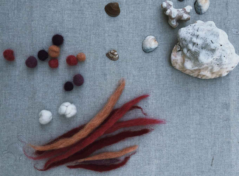 Filzen Naßfilzen Filzkugel Filzschnur Muscheln basteln - Grundkenntnisse im Naßfilzen mit Kindern