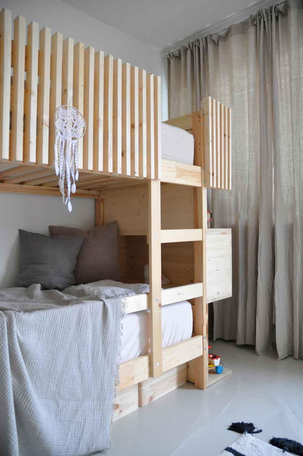 Kinderzimmer Stockbett Holzbett Traumfaenger Anleitung - DIY | ein Stockbett aus Holz einfach selber machen