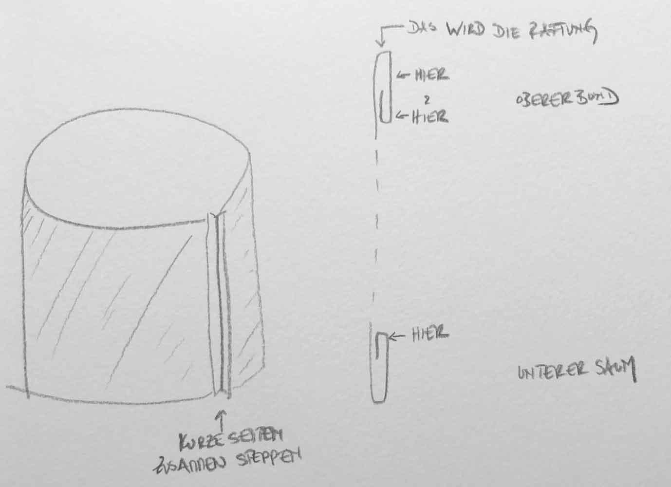 Naehanleitung Rock - Ein Sommerrock   einfach und schnell genäht in unter 30 Minuten