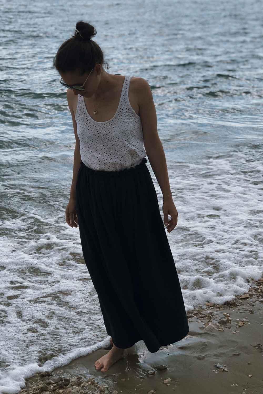 Rock naehen Anleitung maxi musselin Sommer Meer Strand - Ein Sommerrock   einfach und schnell genäht in unter 30 Minuten