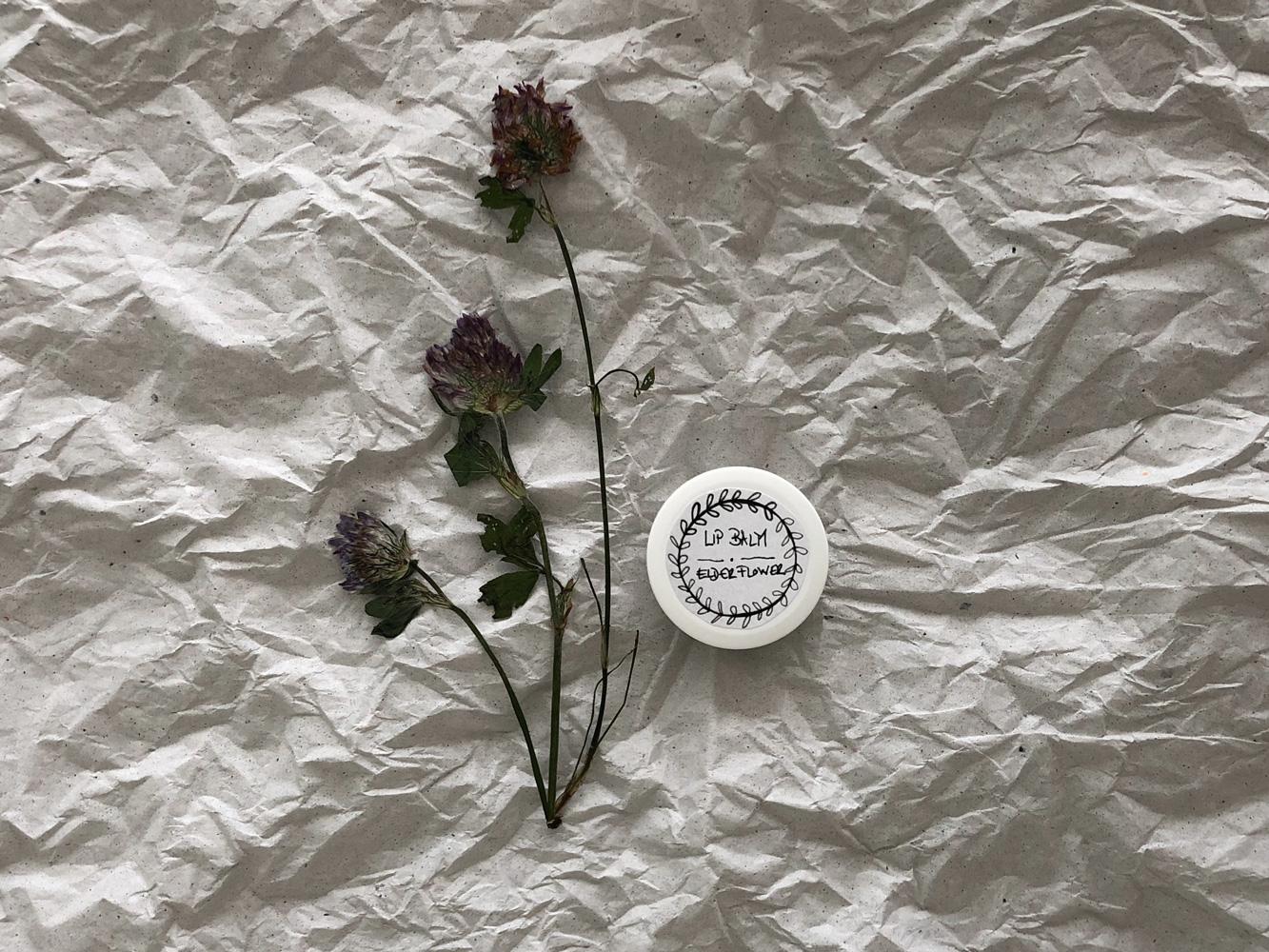Lippenbalsam Labello Rezept Kinder Holunder oel Etikett - DIY | Holunder Lippen Balsam in zartem Rosé