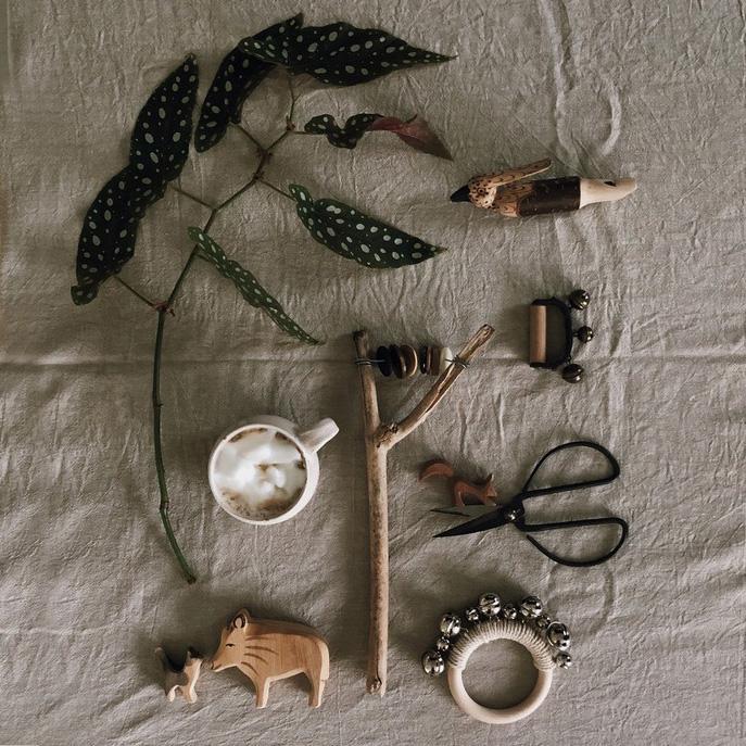 6 Musikinstrument Gloeckchen Knoepfe - DIY   KW 32
