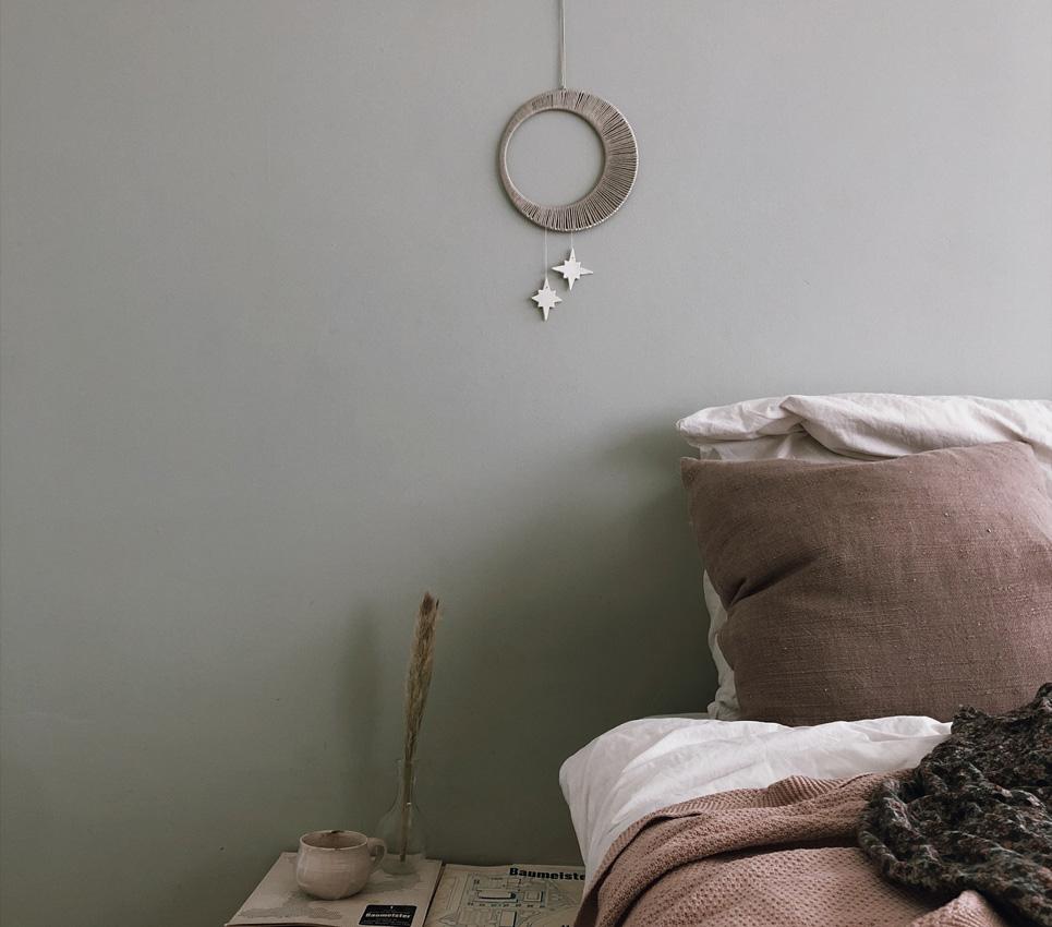 7 Mobile Mond Wanddekor Wolle - DIY   KW 34
