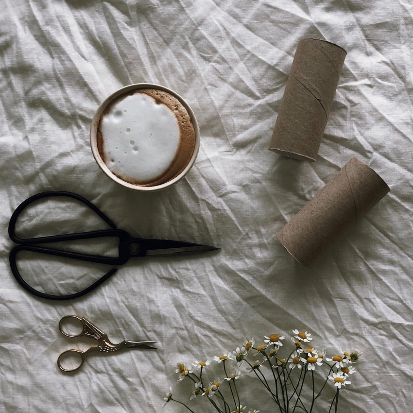 1 Klorollen basteln Schere schneiden Uebung - DIY | KW 35