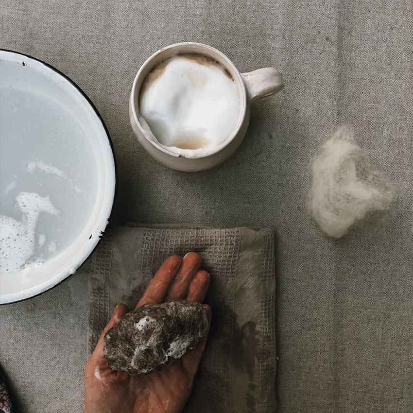 3 Seife filzen Stein Schafsmilch Maerchenwolle - Flusskiesel | Seife umfilzen
