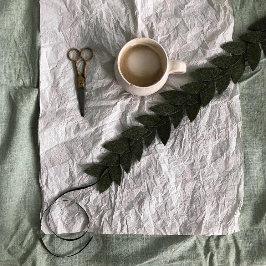 4 coffeeDIY Blaetterkorne Filz - DIY | KW 37