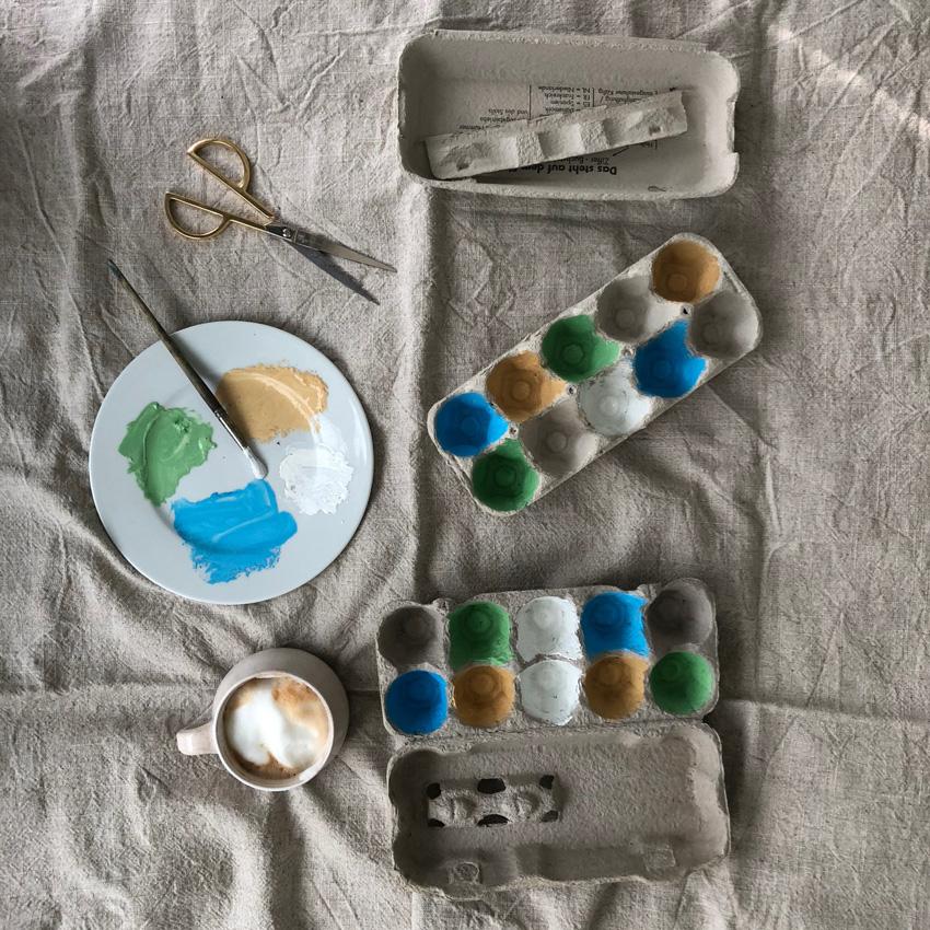 2 Zielscheibe Eierkarton - DIY | KW 40