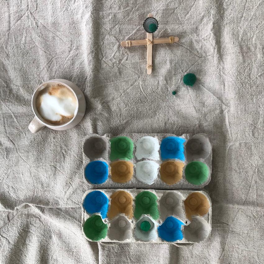 3 Zielscheibe Eierkarton - DIY | KW 40
