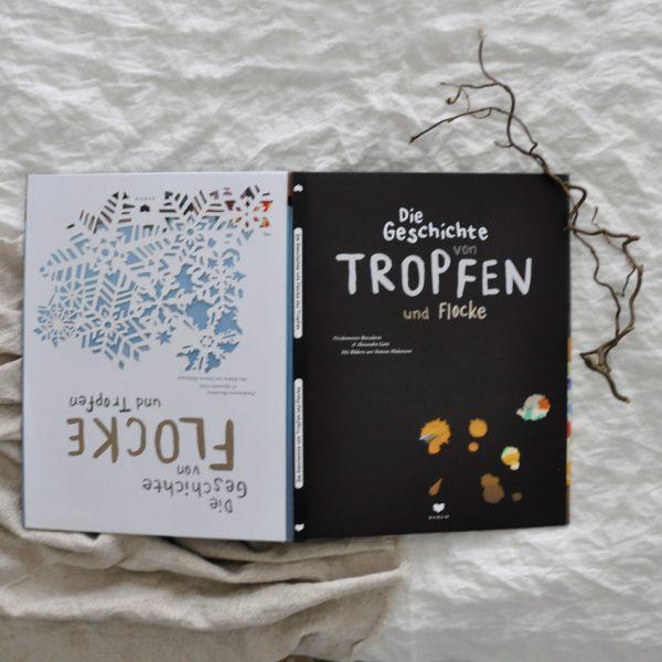 2018 Bohem Die Geschichte von Tropfen und Flocke Buch Seite Titel 600x600 - Die Geschichte von Tropfen und Flocke