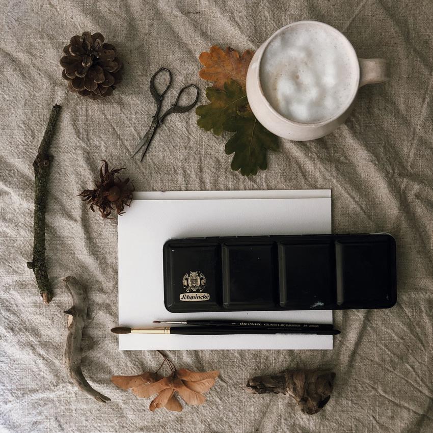 coffeeDIY Karte Natur Baum 01 - DIY   KW 41