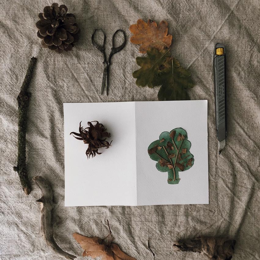 coffeeDIY Karte Natur Baum 02 - DIY   KW 41